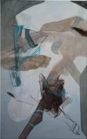 Acryl, Pastellkreide auf Leinwand | 119 x 75 cm